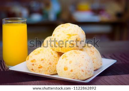 Minas Gerais cheese bread, tipaca food of the city minas gerais Brazil.