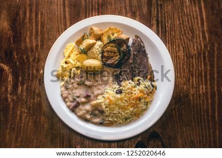 Minas Gerais food, typical dish and Brazilian delicacies. Cuisine of Minas Gerais.