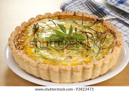 Minced Beef and Leek Quiche. Unsharpened file