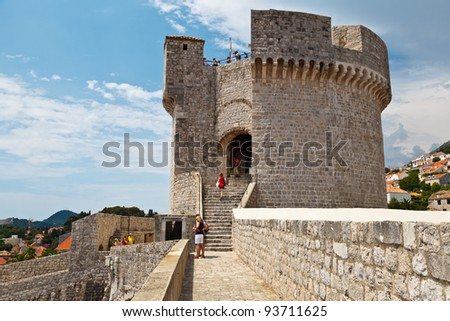 Minceta Tower in Dubrovnik, Croatia