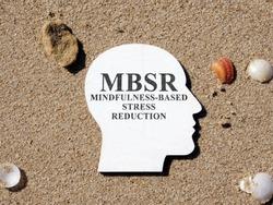 Mindfulness Based Stress Reduction MBSR on a head shape.