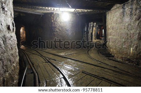 Mine railway in undergroud