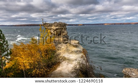 Miner's Castle rock formation overlooking Lake Superior in the Pictured Rocks National Lake Shore in Michigan's Upper Peninsula.