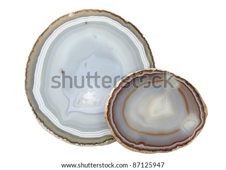 Mineral agate it is isolated on a white background - stock photo