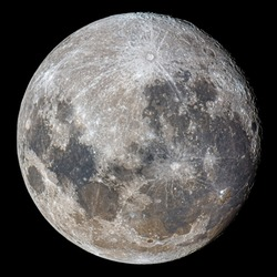 Mineral Full Moon Close Up Photography