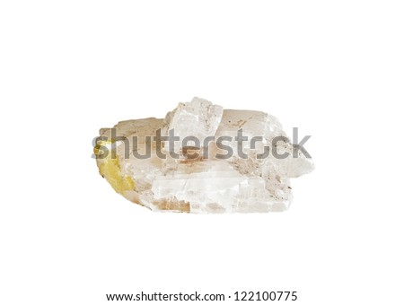 mineral of gypsum with sulfur