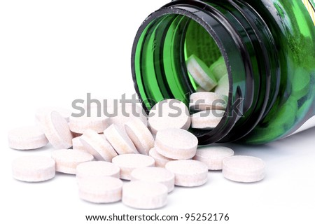 Mineral selenium nutritional supplement tablets.