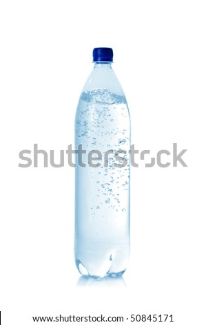 mineral water in bottle isolated on a white background