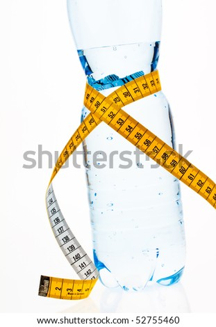 Mineral water. Symbol for diet and weight loss.