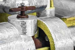 mineral wool cylinders for insulation of pipelines for cooling ventilation and air conditioning systems