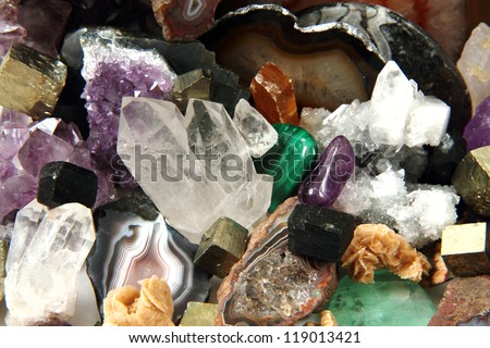 minerals and gems background