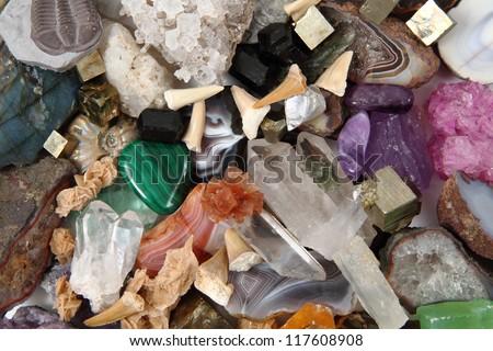minerals (gemstones) background