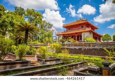Photo of  Minh Lau pavilion at Minh Mang Emperor Tomb in Hue, Vietnam