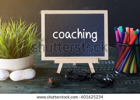 Mini Blackboard Concept Writing: COACHING