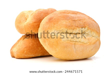 mini bread on white background  #244671571