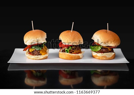 Mini Burgers with Cheese