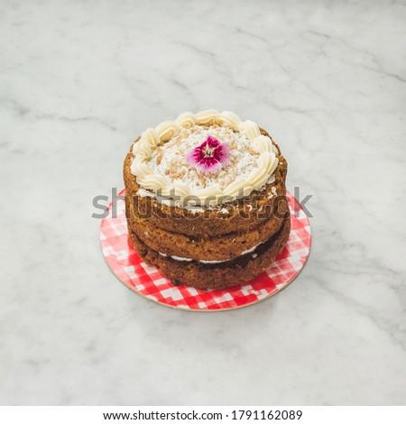 Mini Carrot cake torta de zanahoria Stock fotó ©