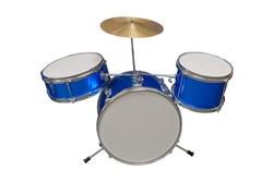 Mini Drum Set Isolated on White Background