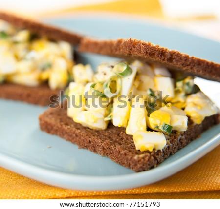 Mini Egg Salad Sandwiches with Whole Grain Bread