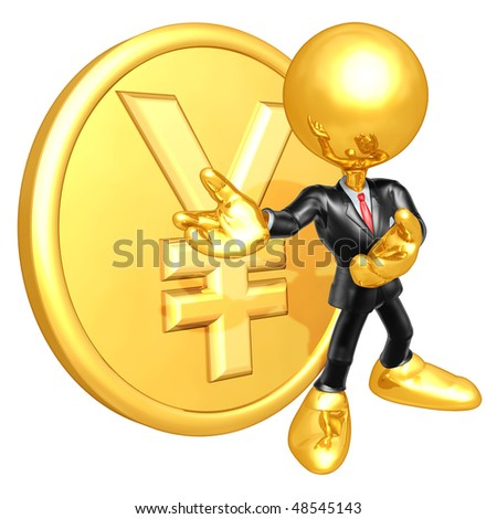 Mini Gold Guy Businessman With Gold Coin