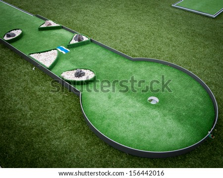 Mini golf - stock photo