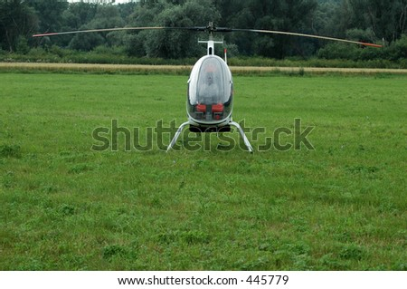 mini helicopter on grass