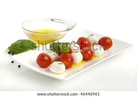 Mozzarella Cheese Balls And Cocktail Tomatoes Make For A Tasty Caprese ...