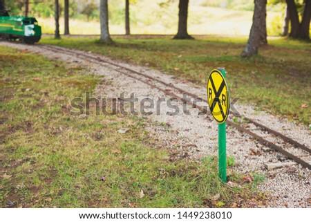 Mini railway train track system Stock fotó ©