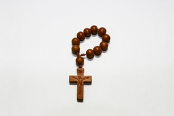 Mini Rosary used when praying in Catholicism