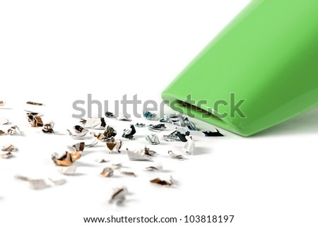 mini vacuum cleaner on white background