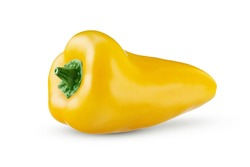 Mini yellow sweet pepper isolated on white background