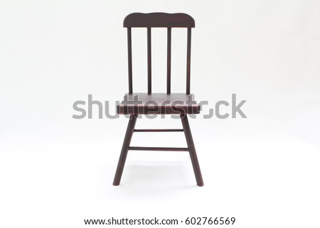 Miniature antique wooden chair #602766569