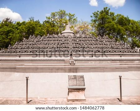 Miniature Borobudur temple at the Beijing World Park, Beijing, P.R. China Stock fotó ©