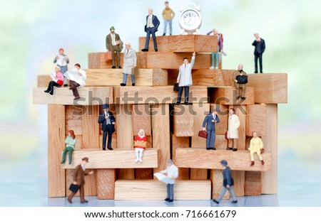 miniature business people...