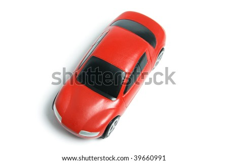 Miniature Car on White Background