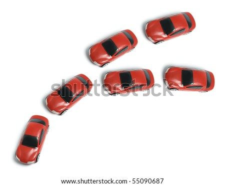 Miniature Cars on White Background