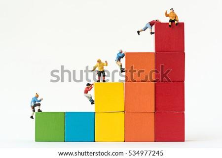 miniature climbers team...