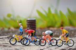 Miniature figure racing bike sport