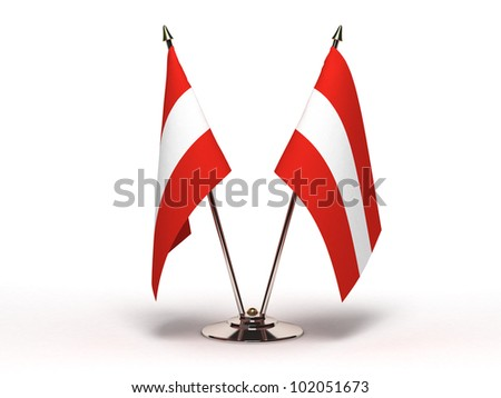 Miniature Flag of Austria (Isolated with clipping path)