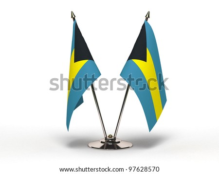 Miniature Flag of Bahamas (Isolated with clipping path)
