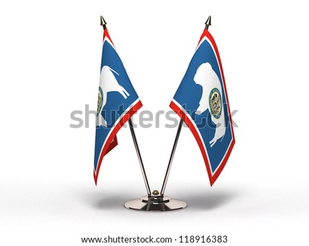 Miniature Flag of Wyoming (Isolated with clipping path)