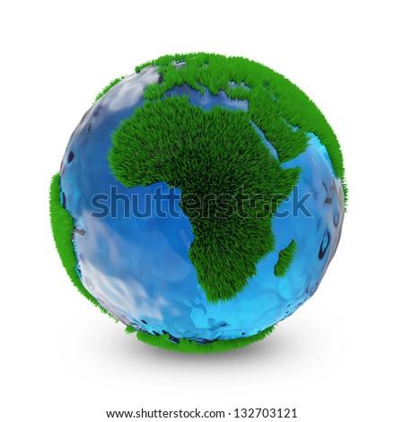 miniature green earth planet...
