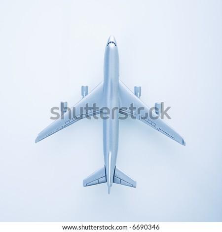 Miniature model jet airplane. - stock photo