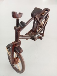 miniature onthel bicycle made of wood