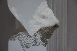 miniature paper card model cutting terrain landscape architecture surrounding art artwork
