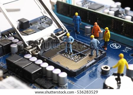miniature people concept  ...