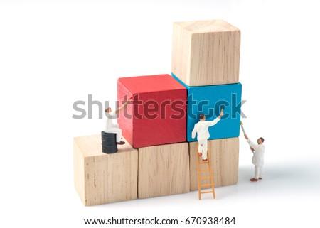 miniature people worker...