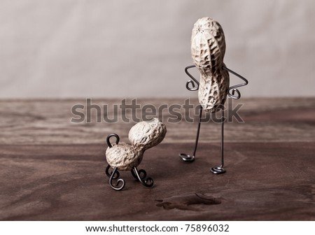 Miniature Still-Life with Peanut Man and Dog