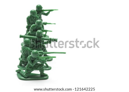 miniature toy soldiers to attack the enemy