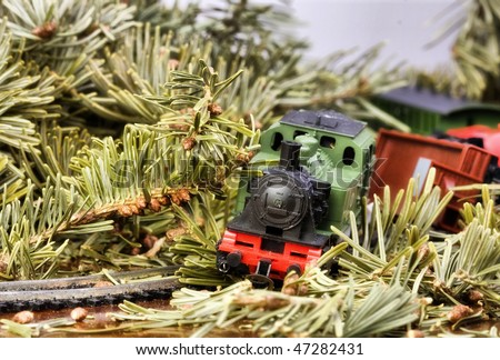 miniature toy train accident